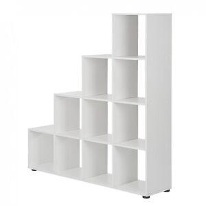 raumteiler treppe wei b cherregal standregal b cher stufen regal wohnzimmer neu. Black Bedroom Furniture Sets. Home Design Ideas