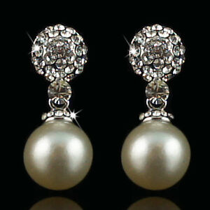 14k-white-Gold-plated-with-Swarovski-crystals-pearl-dangle-elegant-earrings