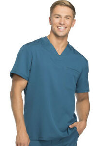 New Dickies Dynamix Men's Scrubs Sets in Black TOP: DK610 / PANT: DK110