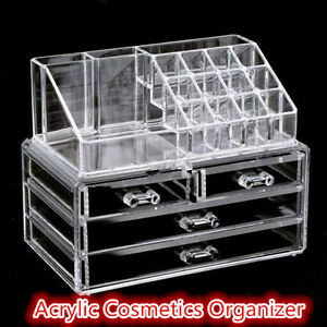 NEW Acrylic Jewelry Display Holder Drawer Storage Makeup Cosmetic