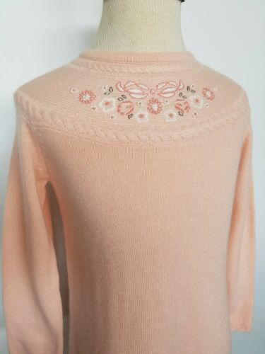 Details about  /Janie /& Jack Girls Sweater Dress Embroidered All In Bows Size 3T NWT HTF
