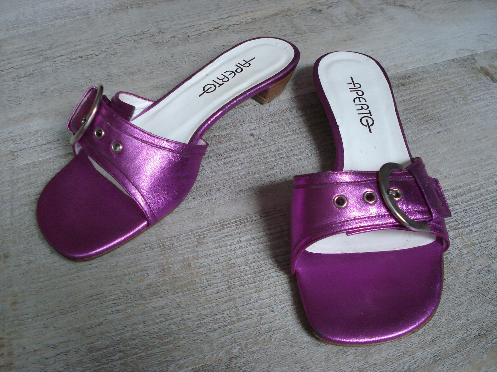 Sandaleette von APERTO, 36,5, Schnalle, pink / fuchsia, RAR