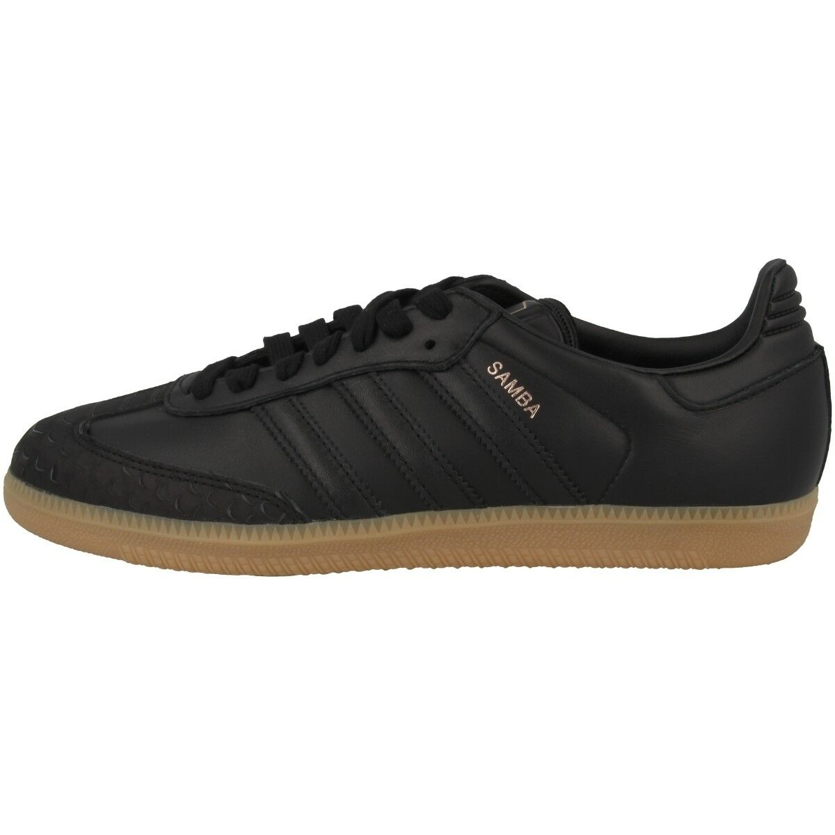 Zapatos promocionales para hombres y mujeres Adidas Samba Women Sneaker Damen Freizeit Leder Schuhe black CQ2641 Fußball
