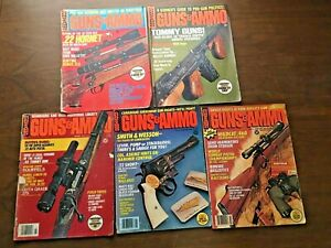 GUNS-amp-AMMO-MAGAZINE-1973-039-76-039-78-Lot-5-Firearms-Shooting-Hunting-Ads-Vintage