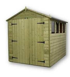 Exceptional Image Is Loading GARDEN SHED 6X7 SHIPLAP APEX TANALISED PRESSURE TREATED