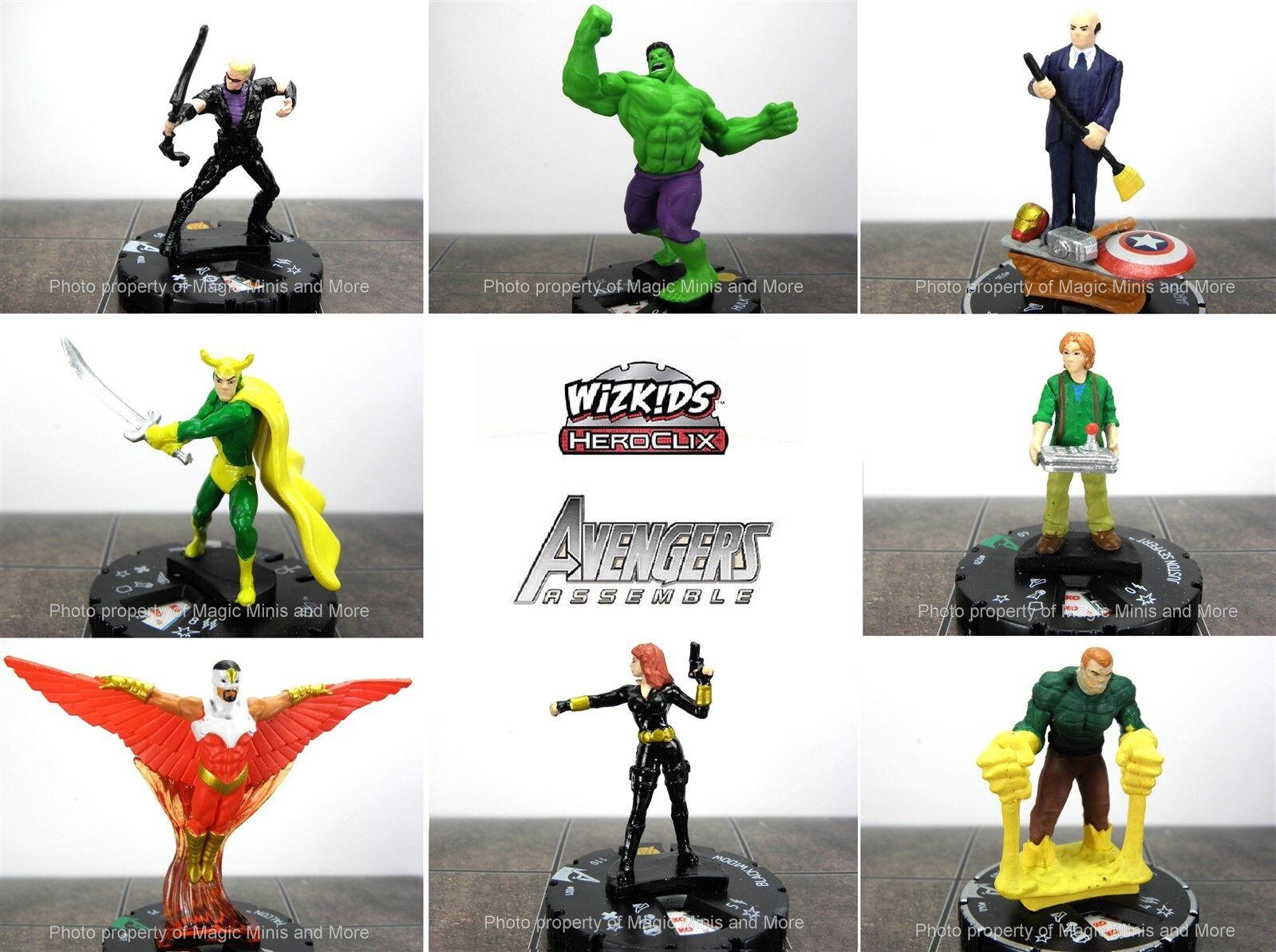 CUR Vengadores montar C U R 48 miniatura conjunto Sandman Heroclix Hulk Loki Jarvis
