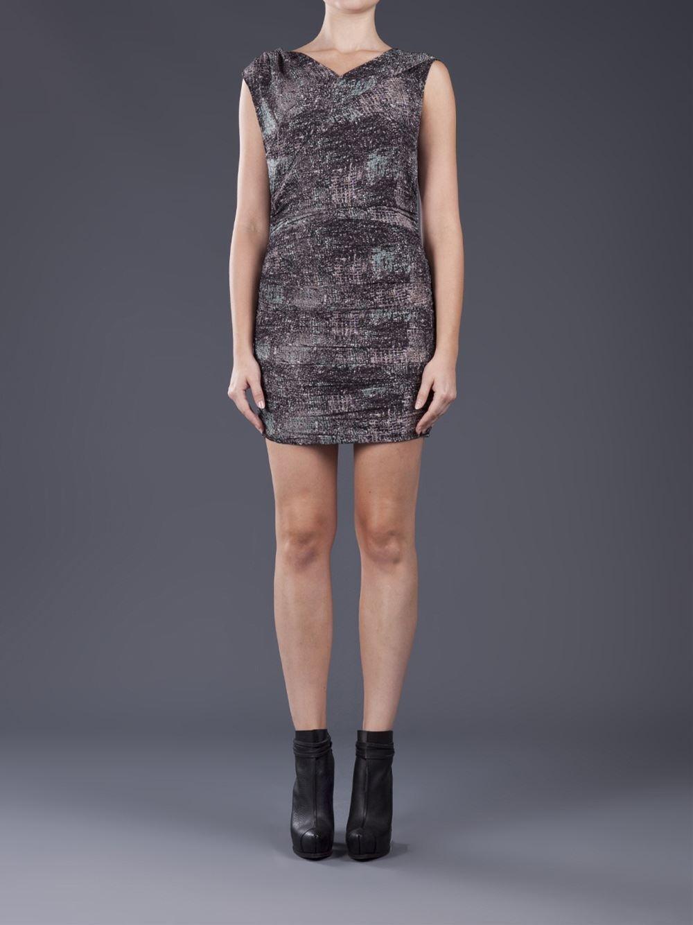 IRO Heidi Printed Printed Printed Multicolor Crepe Dress  425  size 0 d6efcb