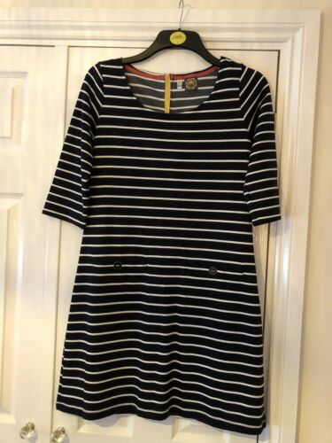 12 Dress White Ladies Size Joules Navy Stripped And f0xvqw85