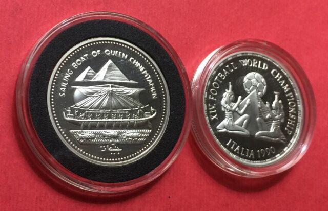 Egypt,2 silver proof coins .1990 & 1994....HIGH GRADE