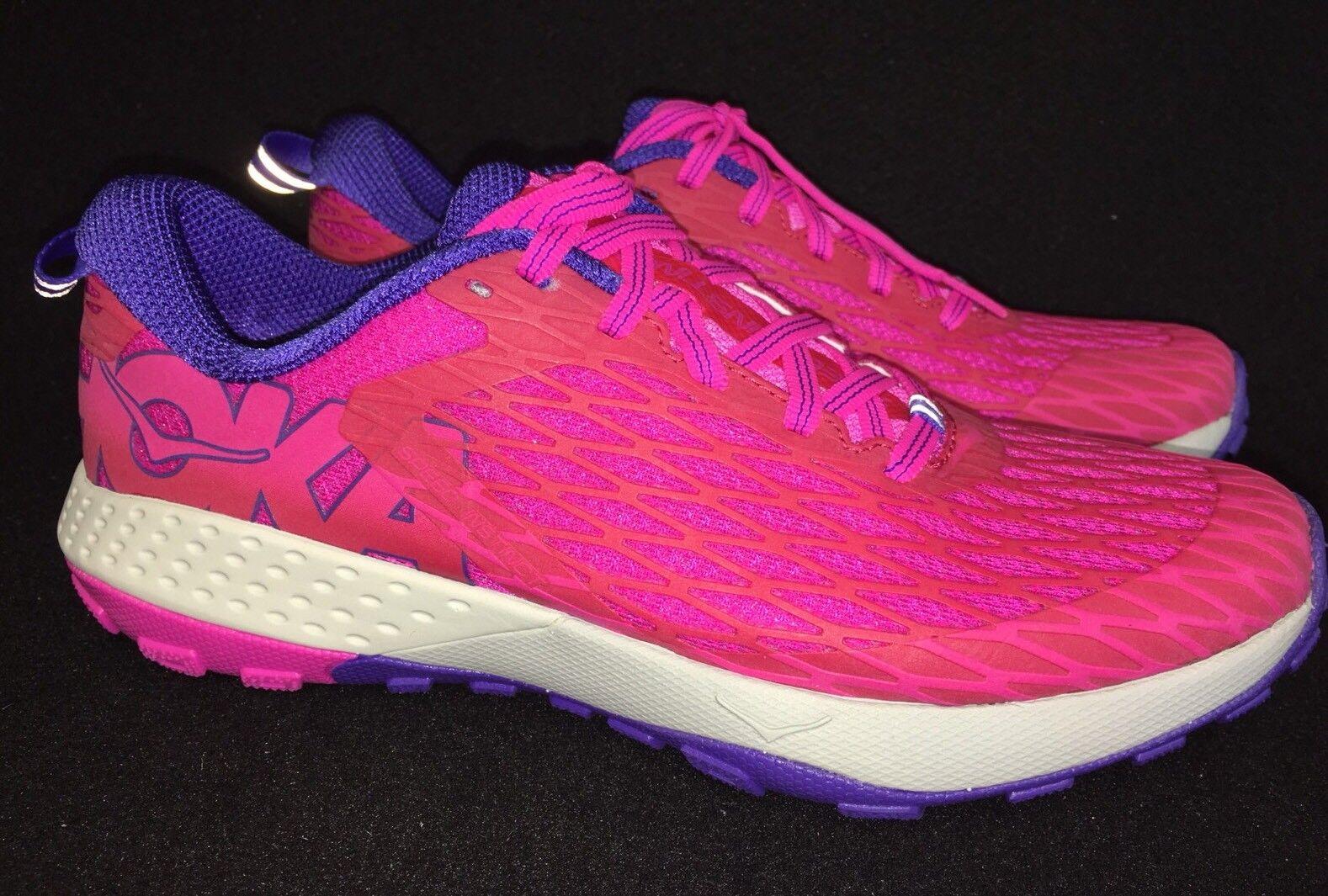 HOKA ONE ONE SPEED INSTINCT Virtual rosa   Neon Fuchsia Tennis RUNNING scarpe