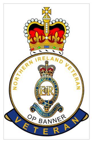 RHA Royal Horse Artillery Northern Ireland Op Banner Veterans Sticker
