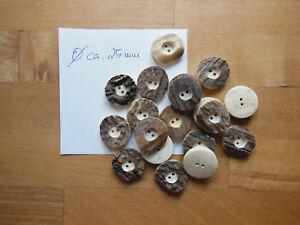 ? 1 Piece Deer Antler Buttons Genuine Approx 23 mm DM Costume//Oktoberfest