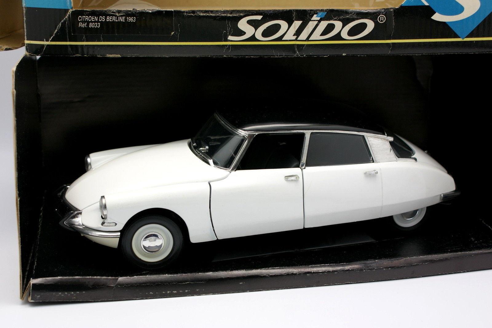 Solido 1 18 - Citroen DS 19 1963 whitehe et blacke
