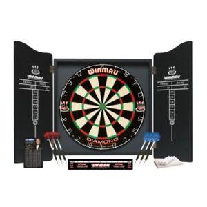 Winmau-Professional-Darts-Set-Diamond-Wire-Premium-Bristle-Dartboard-amp-Cabinet