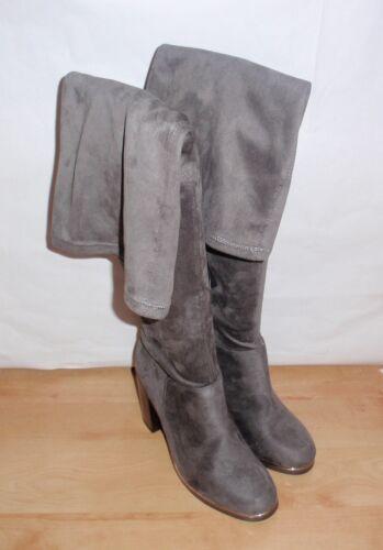 faux e Womens in camoscio tacco Look New grigio con Cinders 8 Stivali alti pelle scamosciata alto con 7gOnSRx