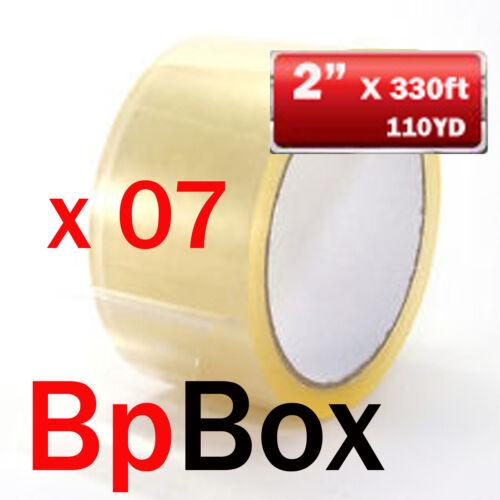 "7 Carton Sealing//Packaging Tape ROLL 2/"" x 110 Yard CLEAR 7 rolls"