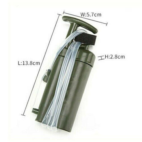 Personal Survival Water Filter Camping Outdoor Emergency Purifier Drinking Water