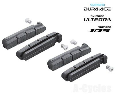2x Shimano Road Brake Shoes Dura-Ace Ultegra 105 Pads Inserts R55C3 7900 6700+++