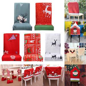 Weihnachtsmann Mütze Stuhlhussen Stuhlbezug Christmas Stuhlhusse Weihnachten