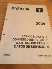 Yamaha moteur hors bord service data données entretien revue technique 2004