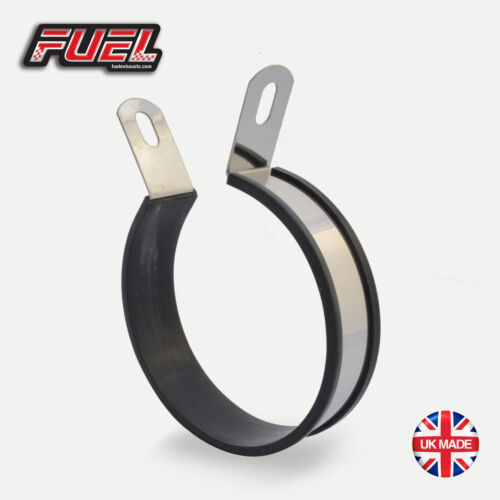 S/S Round 15mm Offset Exhaust Mounting Bracket / Hanging Strap / Hanger / Clamp