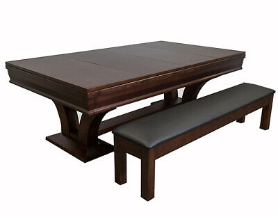 Superb Hamilton Pool Table 8 W Dining Top Conversion 2 Matching Benches Free Ship Ebay Gmtry Best Dining Table And Chair Ideas Images Gmtryco