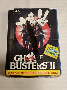 1989-Topps-GhostBusters-II-Box-36-Wax-Packs-Bonus-Poster