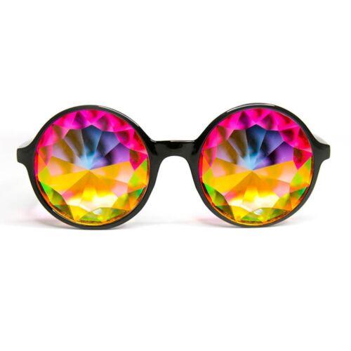 Black Diffraction for Rave Festivals Parties Xtra Lite Kaleidoscope Glasses