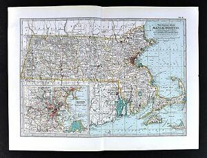 1898 Century Atlas Map - Machusetts - Boston Cape Cod ... on boston harbor map, mbta commuter rail boston map, suffolk county boston map, worcester boston map, long island boston map, alabama boston map, needham boston map, columbia boston map, fort point channel boston map, deer island boston map, braintree boston map, atlantic ocean boston map, nantucket boston map, tennessee boston map, massachusetts boston map, plymouth boston map, shrewsbury boston map, medford boston map, phoenix boston map, pittsburgh boston map,