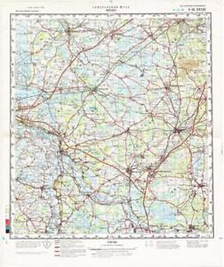 Russian Soviet Military Topographic Maps - VERDEN (Germany), 1:200 ...