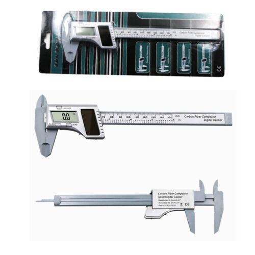 Solar Power Digital Vernier Caliper Electronic LCD Gauge Micrometer 0-150mm zxv