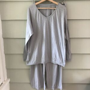 Eileen-Fisher-Sleepwear-by-Garnet-Hill-2-Piece-Pajama-Lounge-Set-XL-Blue