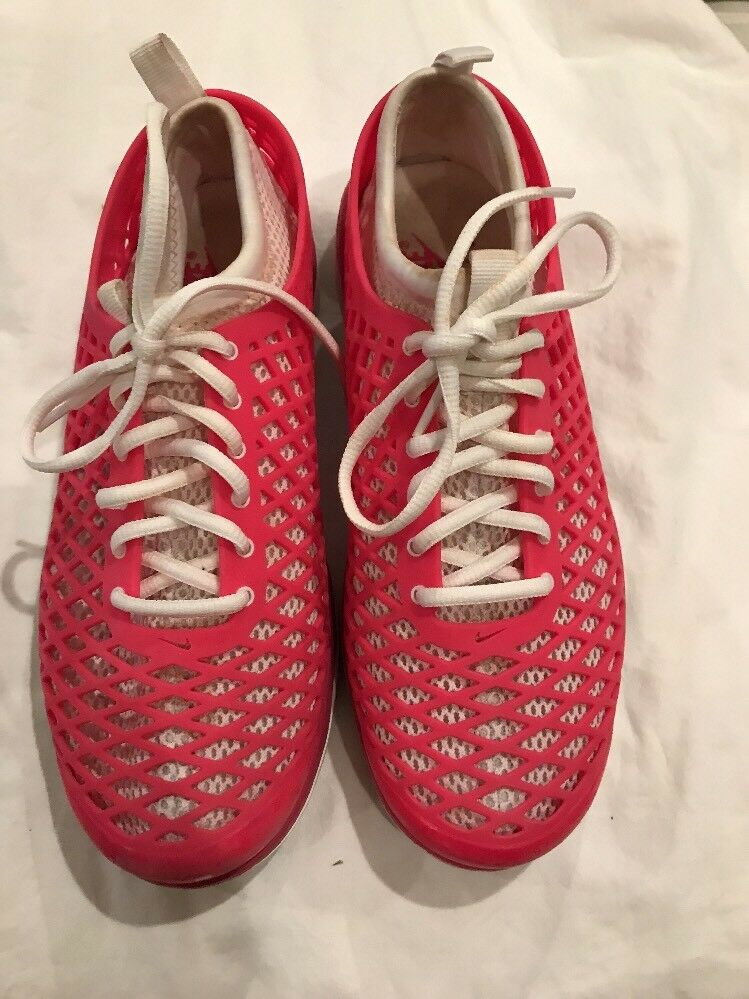 Womens Nike Air Running Shoes. Pink White Comfortable Great discount