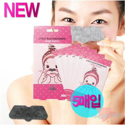 [Lioele] Black Head Zero NOSE Patch 5sheets Mask Pack Remove Blackhead Sebum