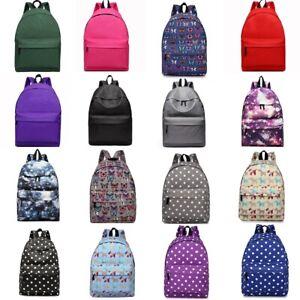 2019 Neuer Stil School Boy&girls A4 Canvas Bag Backpack Rucksack Travel Laptop College Neueste Technik