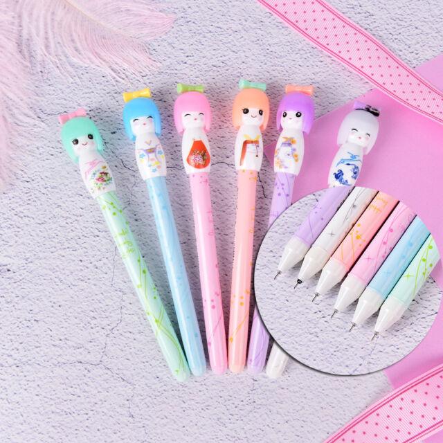 1X Cute Kimono Japanese Girl Doll Gel Pen Writing Signing School Stationery -TOC