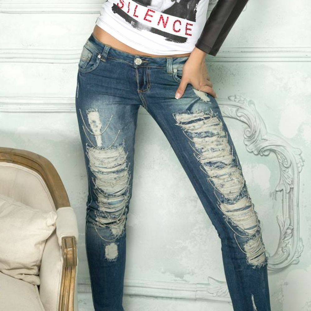 BY ALINA  Damenjeans Jeans Hose Damenhose Sexy Hüftjeans Hüfthose  32 - 36  B14