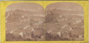 Panorama Da Lucerna Suisse Stereo W.Inghilterra Stereoview Vintage Albumina Ca
