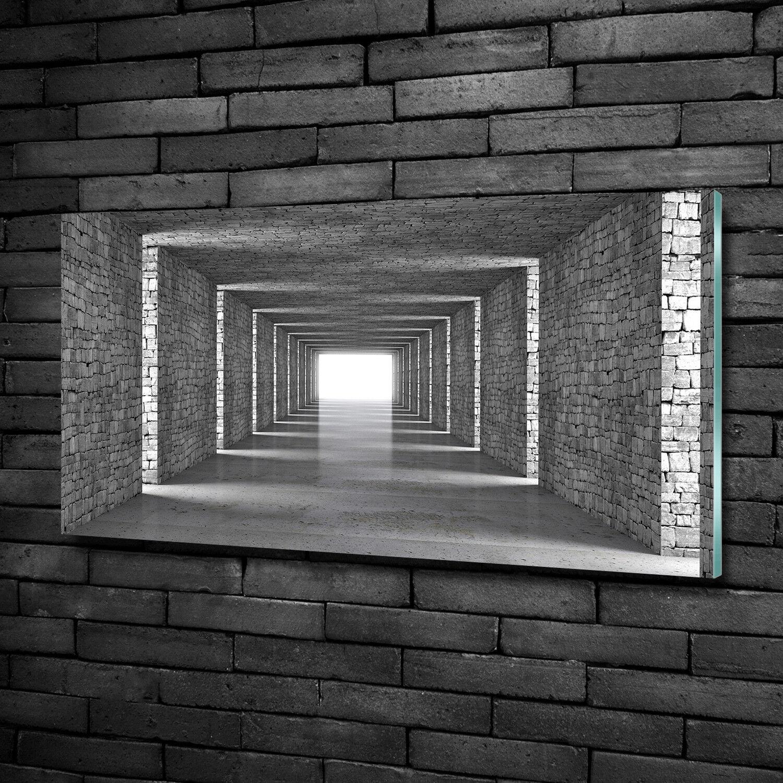 Vetro-Immagine Parete immagini Stampa su vetro 100x50 Decorazione Arte MATTONE-Tunnel