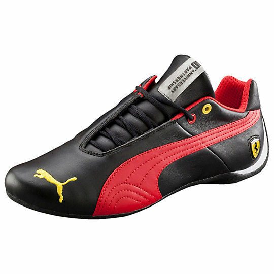 regarder a7a09 2fe08 MEN'S PUMA FERRARI FUTURE CAT LEATHER SF -10- BLACK-ROSSO CORSA 305470 05