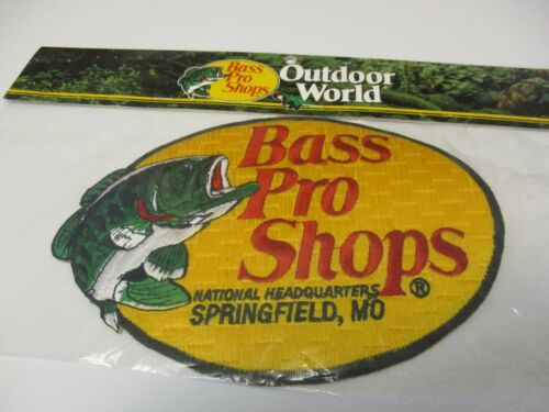 """FISHING PATCH BASS PRO SHOPS /""""1/"""" PATCH 6 x 8 INCHES XL LIMITED EDITION  #17"""