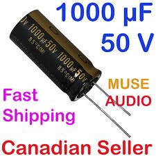 2pcs 1000uF 50V 18x40mm Nichicon MUSE KZ For AUDIO RADIO VIDEO STEREO AMPLIFIER