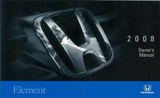 2008 Honda Element Owners Manual User Guide Operator Book Fuses Fluids OEM