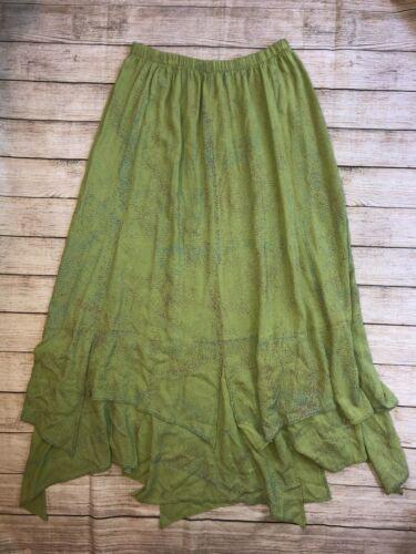 Staley Gretzinger Size L Wearable Art Maxi Green L
