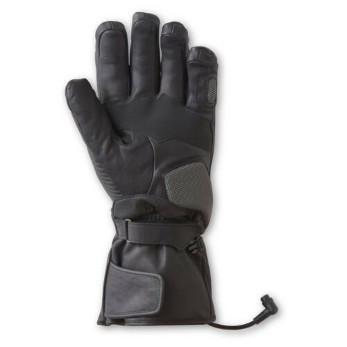 GYDE BY GERBING 12V HEATED MEN/'S VANGUARD LEATHER MOTORCYCLE GLOVES NEW BLACK