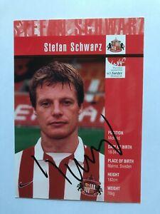 Autogramm STEFAN SCHWARZ-AFC Sunderland-NS SCHWEDEN-Ex-Arsenal/Benfica-AK
