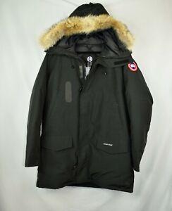 New-NWD-Canada-Goose-Mens-LangfordParka-Coat-Size-XL-Black-Coyote-Fur-Long-Slim
