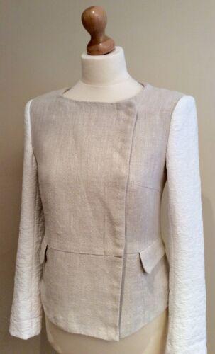 Cream 10 Popper Zara Jacket Maat Bevestiging S Uk 8nXw0POk