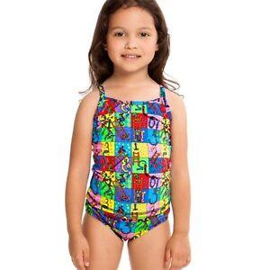 96c203e54dd79 Image is loading Funkita-Two-Piece-Tankini-Girls-Swimwear-Chlorine-resistant -