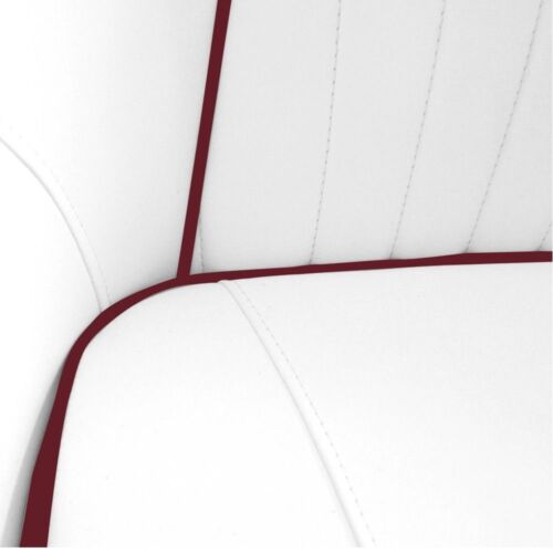 Leader Accessories Deluxe Bucket Boat Seat White//Dark Red piping